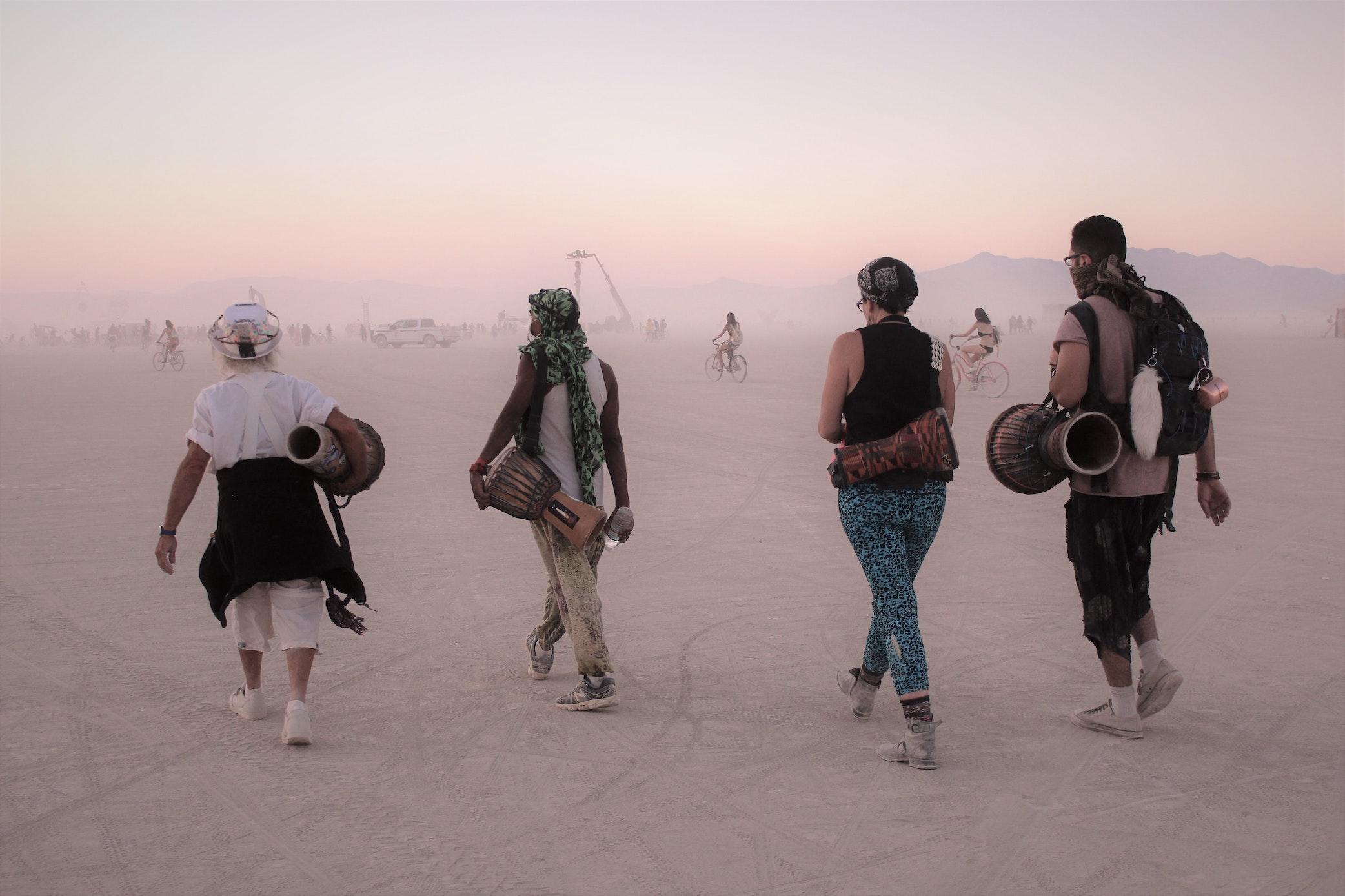 Nomaden Wüste Musik Gemeinschaft