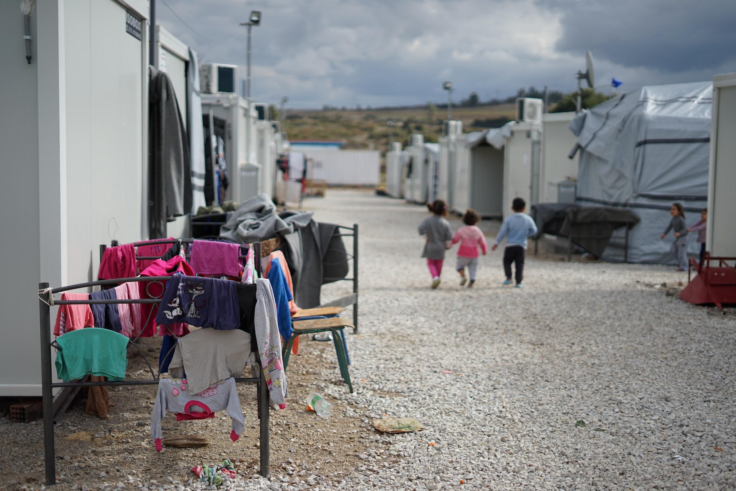 Kinder im Flüchtlingslager
